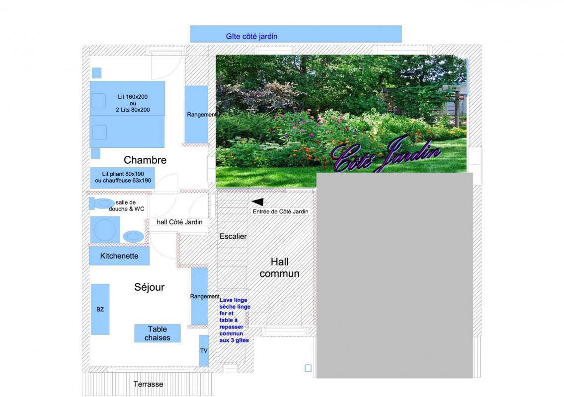 Plan et desciptif cote jardin 1